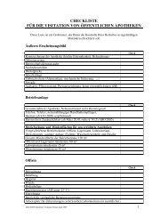 checkliste für die visitation von öffentlichen apotheken