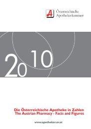 apotheke in zahlen 2010.pdf - Österreichische Apothekerkammer