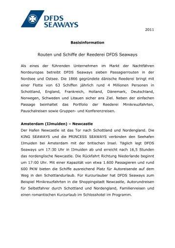 Routen und Schiffe der Reederei DFDS Seaways - DFDS.com