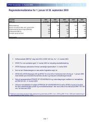 Regnskabsmeddelelse for 1. januar til 30. september ... - DFDS.com