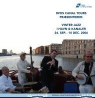 DFDS CANAL TOURS PRÆSENTERER: VINTER JAZZ ... - DFDS.com