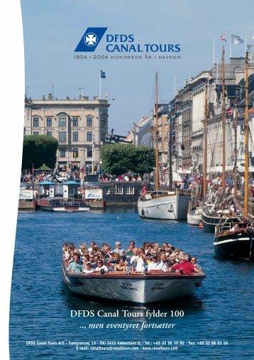 DFDS Canal Tours fylder 100 ... men eventyret fortsætter - DFDS.com