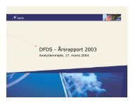 DFDS - Årsrapport 2003 - DFDS.com