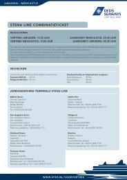 Stena Line CombinatietiCket - DFDS.com