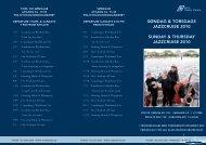 SoNDAG & TORSDAGS JAZZCRUISE 2010 SUNDAY ... - DFDS.com