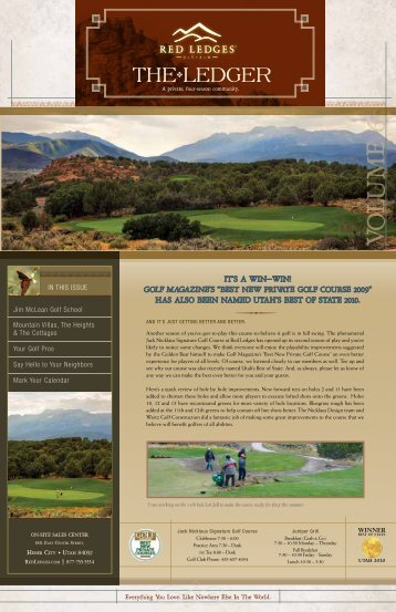 Summer 2010 Newsletter - Red Ledges