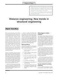 New trends in structural engineering - The Indian Concrete Journal