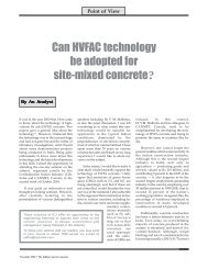 Can HVFAC technology be adopted for site-mixed concrete?