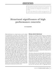 Structural significance of high performance concrete - The Indian ...