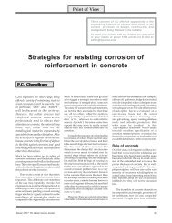 Strategies for resisting corrosion of reinforcement in concrete