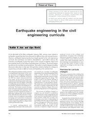 Earthquake engineering in the civil engineering curricula