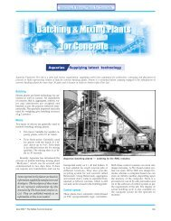 Batching & Mixing Plants for Concrete - The Indian Concrete Journal