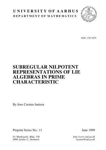 subregular nilpotent representations of lie algebras in prime ...