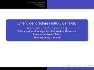 Offentlige foredrag i naturvidenskab - Aarhus Universitet