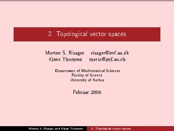 2. Topological vector spaces