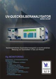 SERIE HG-MP UV-QUECKSILBERANALYSATOR - Anseros