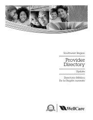 Provider Directory - WellCare