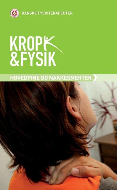 Pjece: Hovedpine og nakkesmerter - Danske Fysioterapeuter