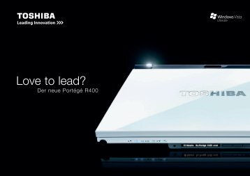 Love to lead? - Toshiba