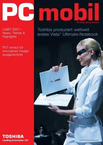 Toshiba produziert weltweit erstes VistaTM Ultimate-Notebook