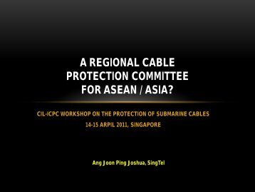 A New regional cable protection committee