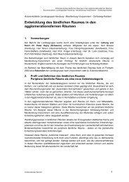 Entwicklung des ländlichen Raumes in den agglomerationsfernen ...