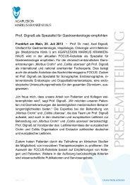 Prof. Dignaß als Spezialist für Gastroenterologie empfohlen