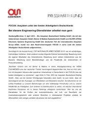 Bei diesem Engineering-Dienstleister arbeitet ... - Assystem GmbH