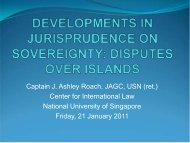 sovereignty disputes over islands - Centre for International Law