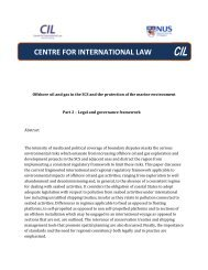 Offshore oil and gas in the SCS - Centre for International Law