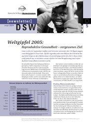 DSW - Global Marshall Plan