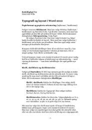 Typografi og layout i Word 2010