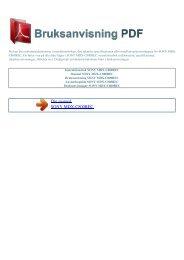 Instruktionsbok SONY MDX-C800REC - BRUKSANVISNING PDF