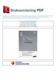 Instruktionsbok SAMSUNG RW13EBBB - BRUKSANVISNING PDF