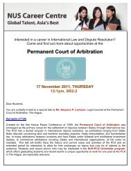 Permanent Court of Arbitration - Centre for International Law