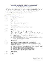 International Conference on Air Transport, Air Law and Regulation ...