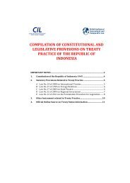 Provisions on treaty practice – Indonesia - Centre for International Law