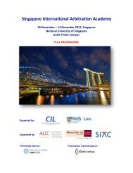 Singapore - Centre for International Law