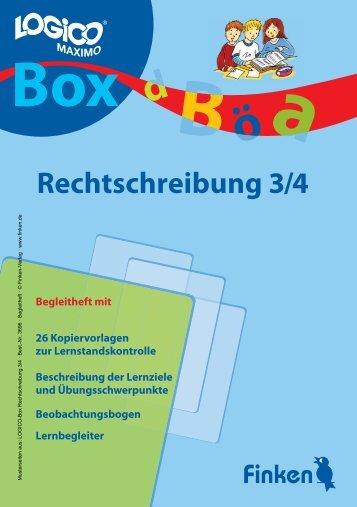 Logico-Box Rechtschreibung 3/4