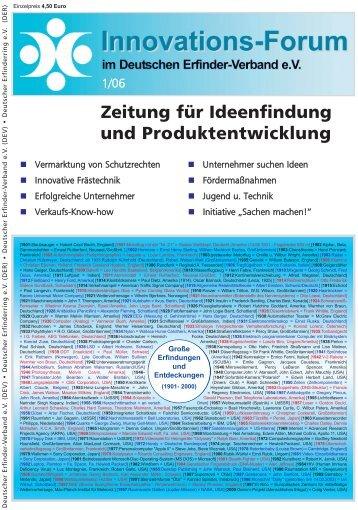 Zeitung für Ideenfindung und Produktentwicklung - Innovations ...