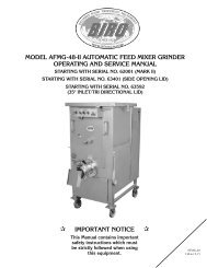 IMPORTANT NOTICE - Berkel Sales & Service