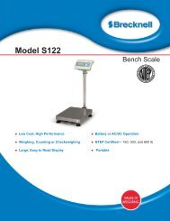 Model S122 Bench Scale - Berkel Sales & Service