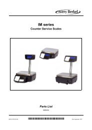 IM series Parts List.book - Berkel Sales & Service