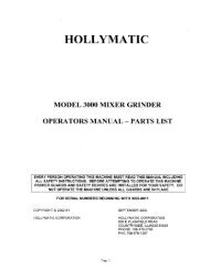 HOLLYMATIC - Berkel Sales & Service
