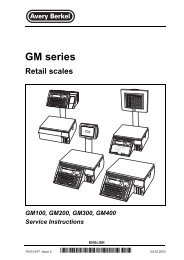 GM series Retail scales - Berkel Sales & Service