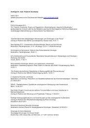 Vorträge Dr. med. Friedrich Overkamp Archiv 2011 - Praxis ...