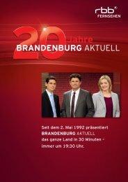 Pressemappe mit Interview und Lebensläufen - rbb Presseservice