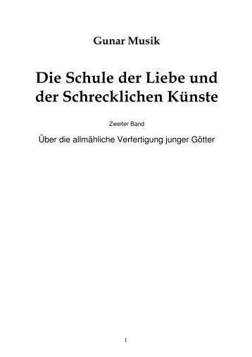 Die Schule der Liebe und der Schrecklichen Künste - Auszüge aus ...
