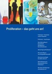 Proliferation – das geht uns an! - Hessen