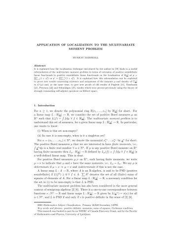 pdf file - Department of Mathematics and Statistics - University of ...